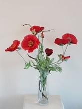 Valentijn boeket 60 cm. (inclusief vaas)