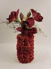 Vaas (exclusief) inclusief boeket amaryllis